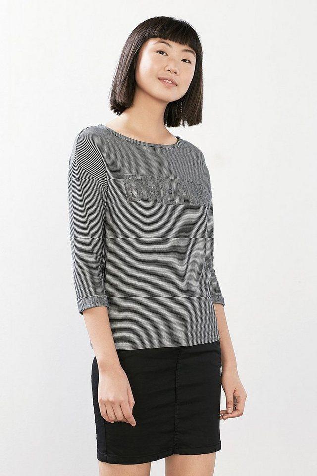 ESPRIT CASUAL Oversize-Shirt aus 100% Baumwolle in NAVY