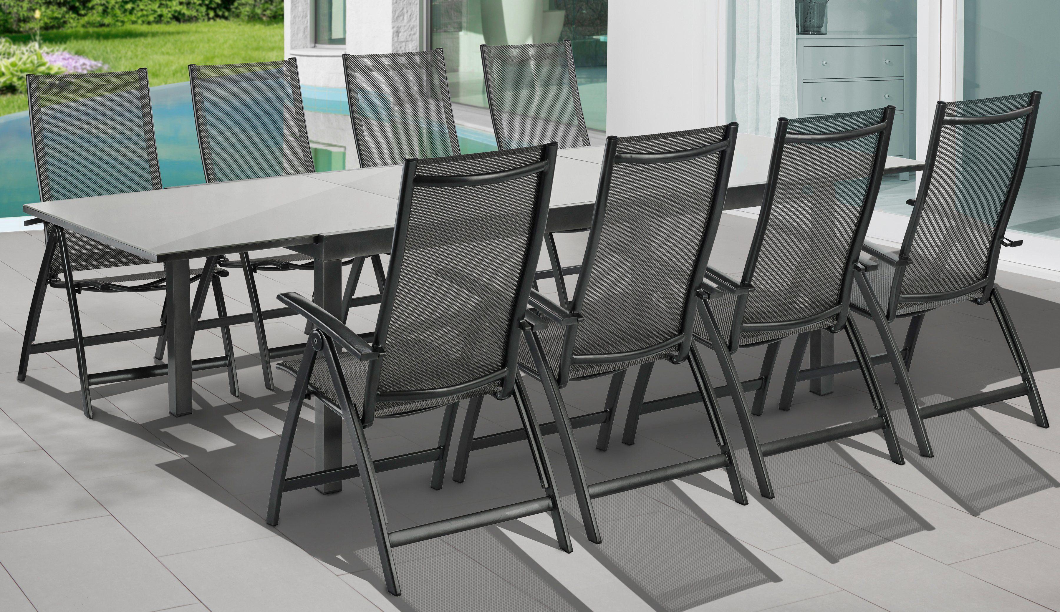 Gartenmobel Alu Set ~ Merxx gartenmöbelset vicenza« tlg klappsessel tisch