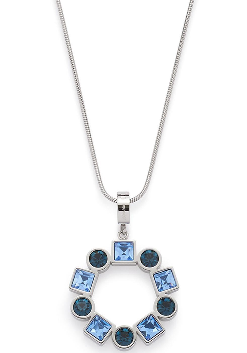 LEONARDO Kette mit Einhänger »Geometria, 016015«, mit Kristallsteinen