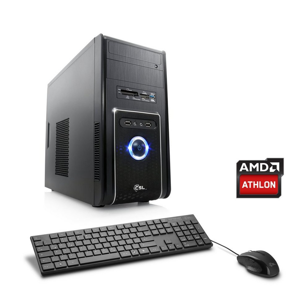 CSL Multimedia PC | Athlon X4 860K | Radeon R7 240 | 8 GB RAM »Sprint T4822 Windows 10 Home« in schwarz