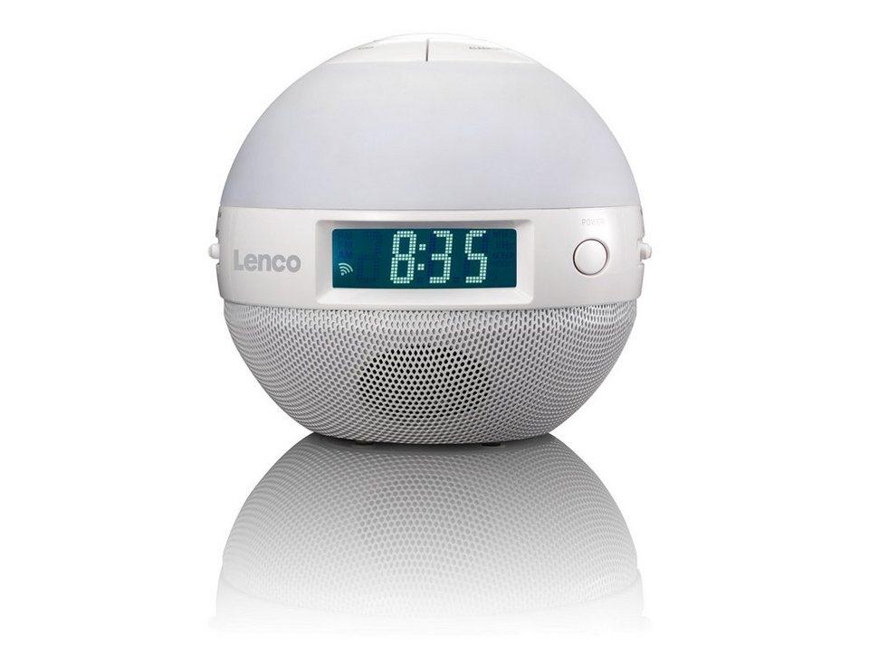 Lenco Wellness Radiowecker mit FM/AM-Analog-Tuner »CRW-1 Sunrise« in weiss