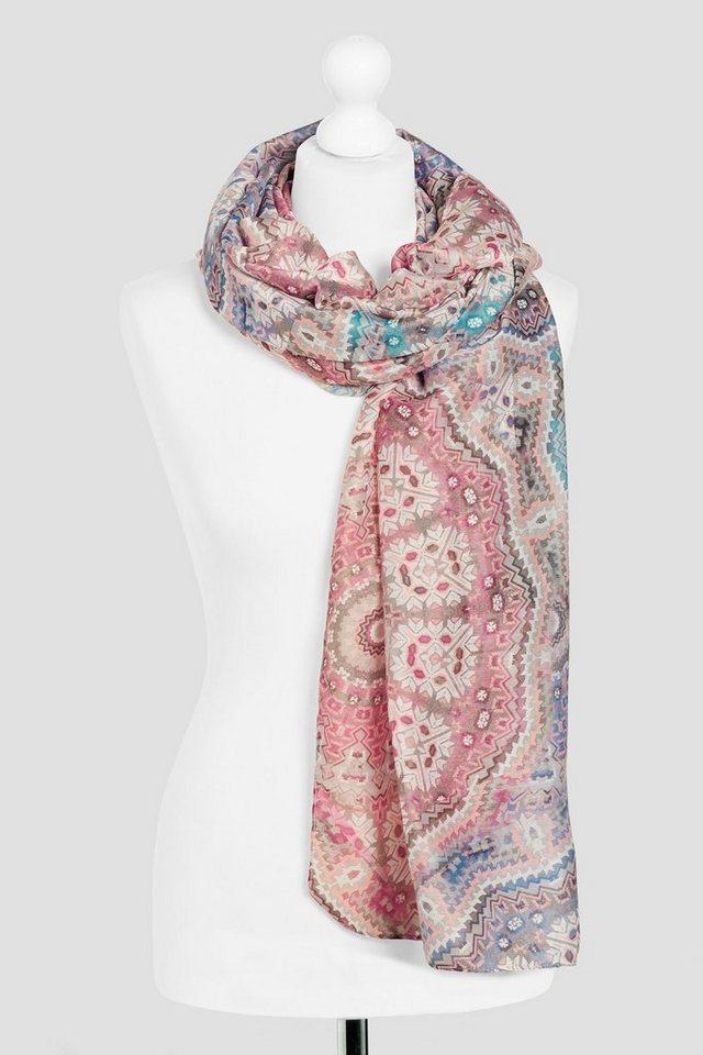 Next Schal mit Mosaik-Print in Pink