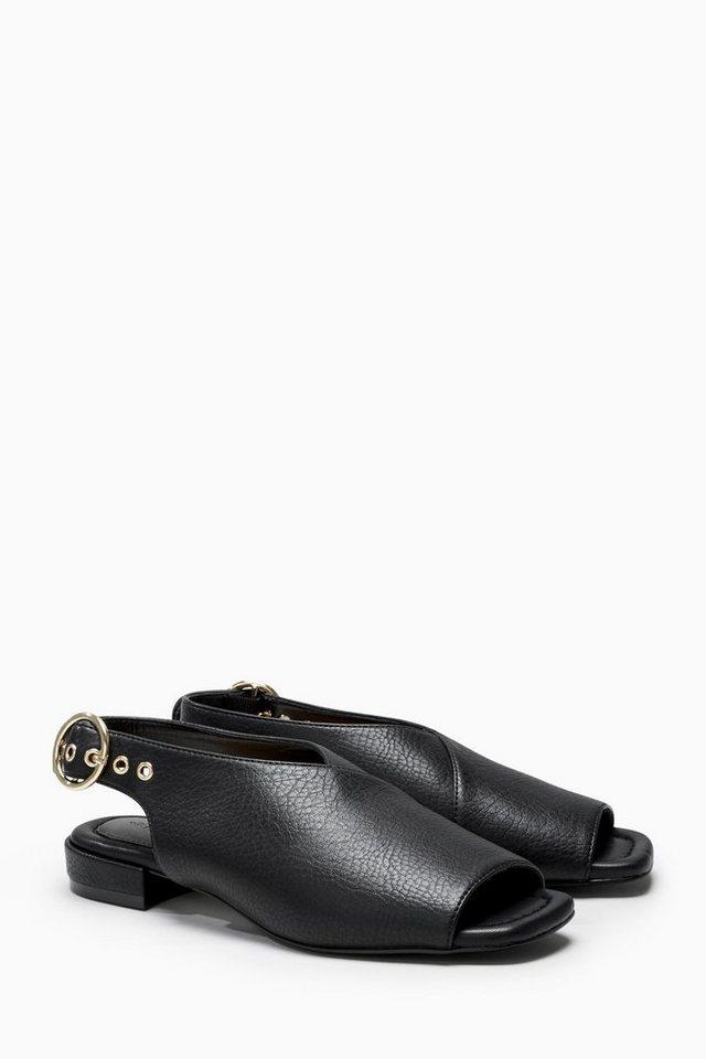 Next Peeptoe-Sandale mit Schnallendetail in Black