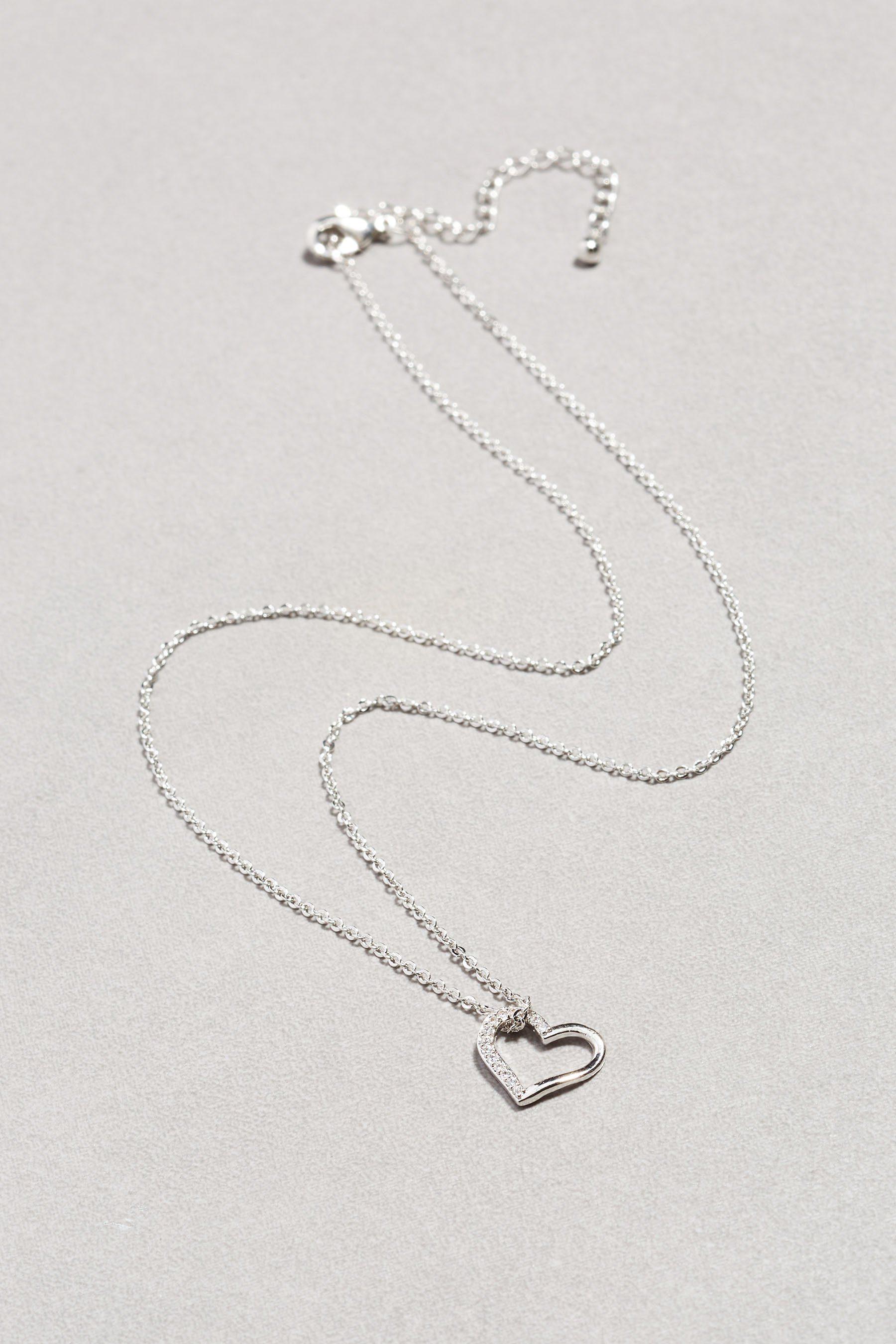 Next Halskette aus Sterlingsilber mit Herzanhänger