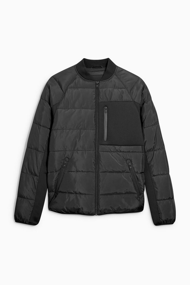 Next Wattierte Bomberjacke in Black