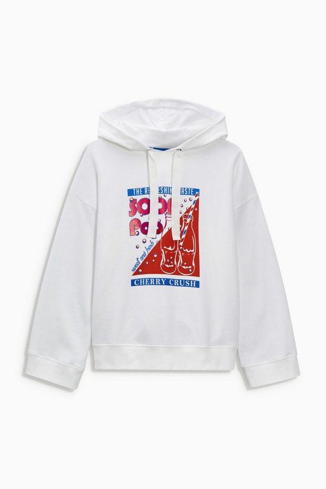 Next Oversize-Kapuzensweatshirt mit Grafikmotiv in White