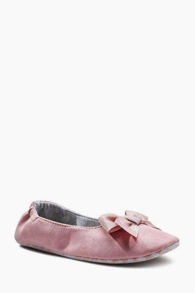 Next Hausschuh mit Schleife in Pink