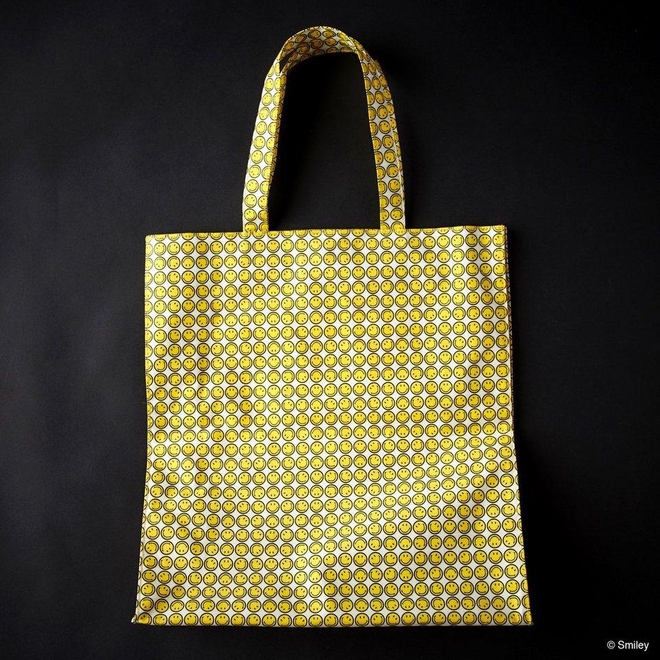 BUTLERS SMILEY »Einkaufstasche« in gelb-schwarz