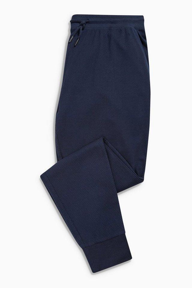 Next Strukturierte Jogginghose mit elastischen Bündchen in Blue