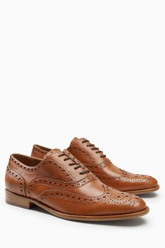 Next Schuh aus Leder in Tan