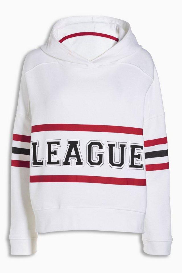 Next Kapuzensweatshirt mit Grafik in White