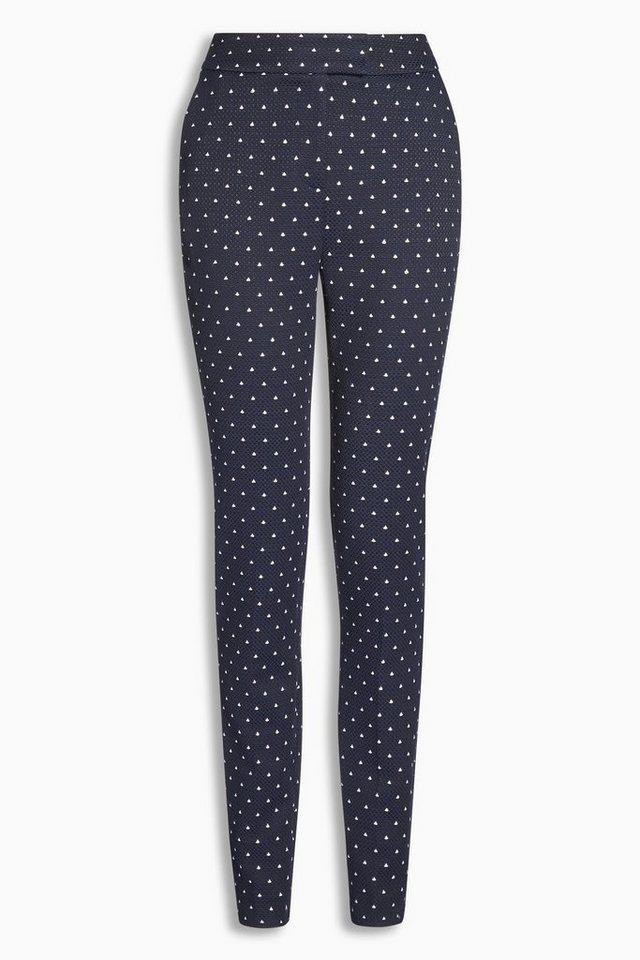 Next Jacquard-Hose mit schmal zulaufendem Bein in Blue