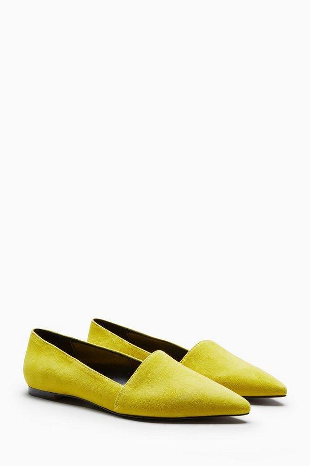 Next Slipper mit spitzer Zehenpartie in Yellow