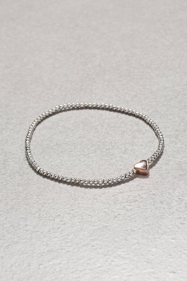 Next Armband in Perlenoptik mit Charm in Silver