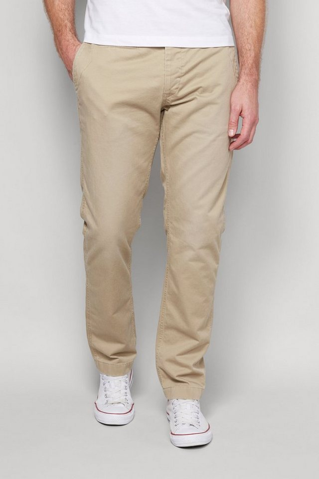 Next Chinohose in Washed-Optik in Stone