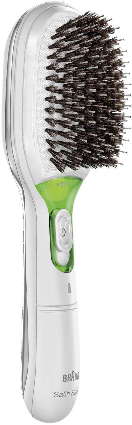 Braun Haarglättbürste Satin Hair 7 IONTEC BR750, mit natürlichen Borsten und Ionen-Technologie zur Förderung des Glanzes