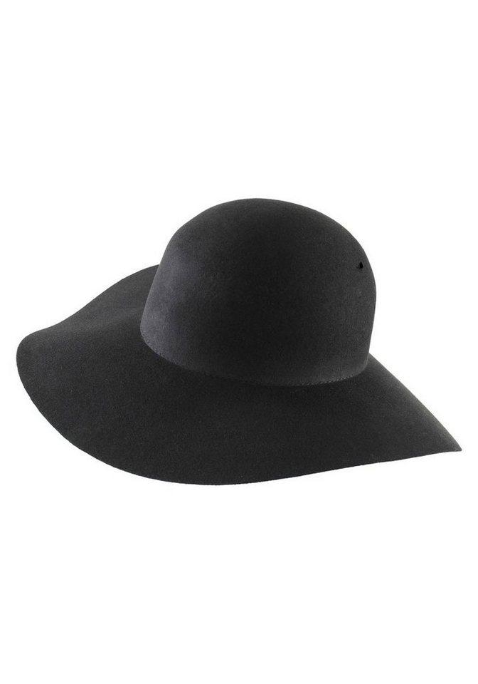 J. Jayz Schlapphut mit breiter Krempe in schwarz