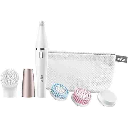 Braun, Gesichtsreinigungsbürste und Gesichtsepilierer, Face 851, inklusive Aufsatz-Mix 4er