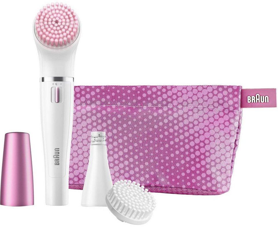 Braun, Gesichtsreinigungsbürste und Gesichtsepilierer, Face 832-s, Geschenkset mit 3 Extras in weiß/pink