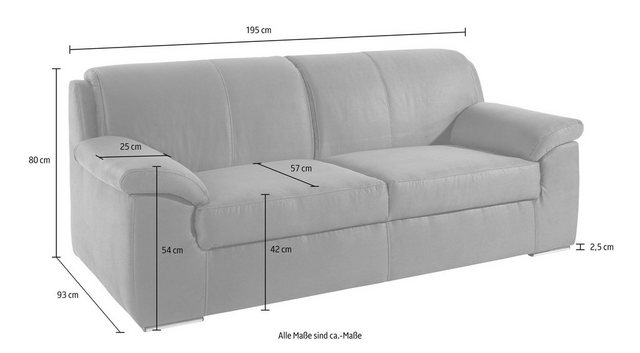Sofas - DOMO collection 2 Sitzer, mit Federkern  - Onlineshop OTTO