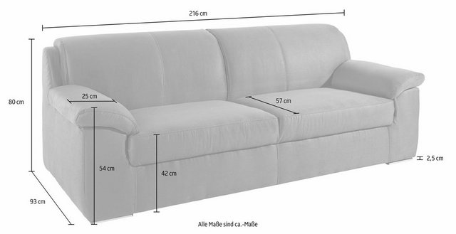 Sofas - DOMO collection 3 Sitzer, mit Federkern  - Onlineshop OTTO