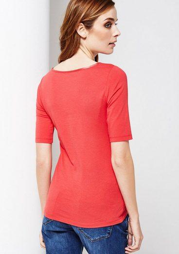 COMMA Schönes Kurzarm Jerseyshirt mit raffinierten Details