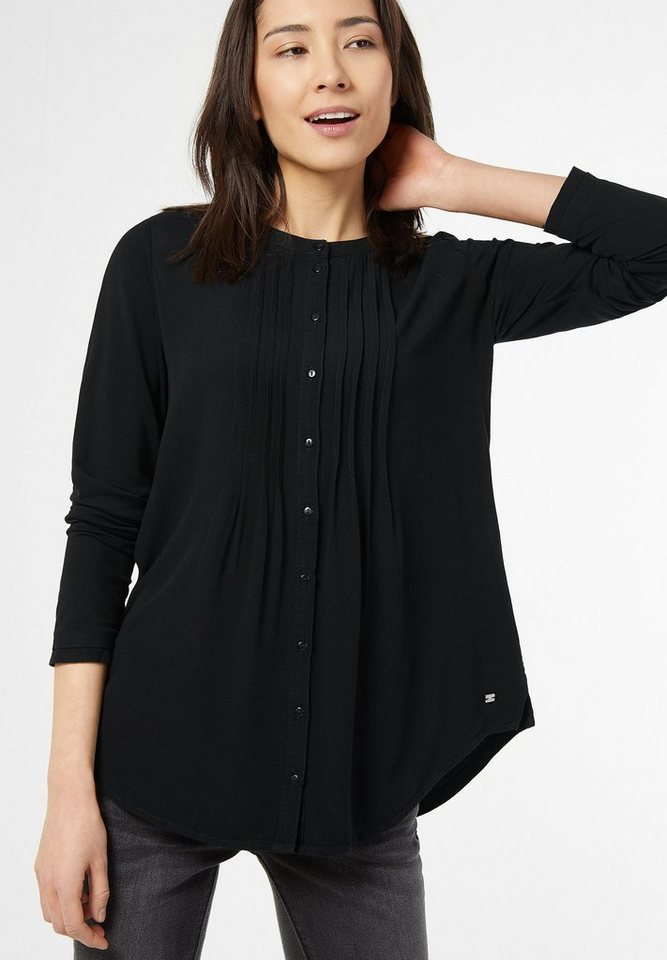 Street One Blusiges Longshirt Laura in Black