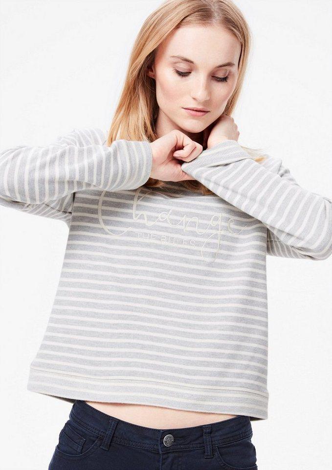 s oliver red label bestickter ringel sweater otto. Black Bedroom Furniture Sets. Home Design Ideas