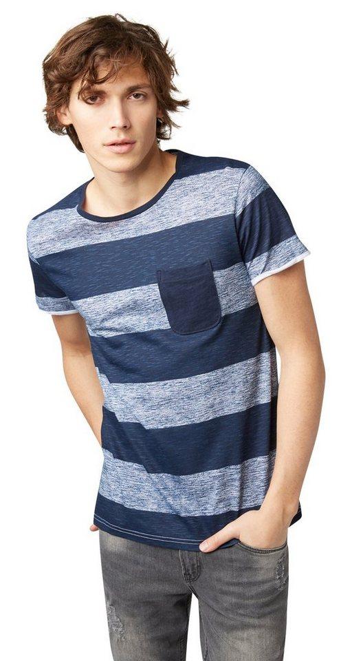 Tom tailor denim t shirt t shirt mit blockstreifen for Tailored t shirts online