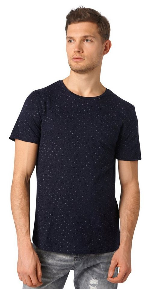 Tom tailor denim t shirt t shirt mit punkte struktur for Tailored t shirts online