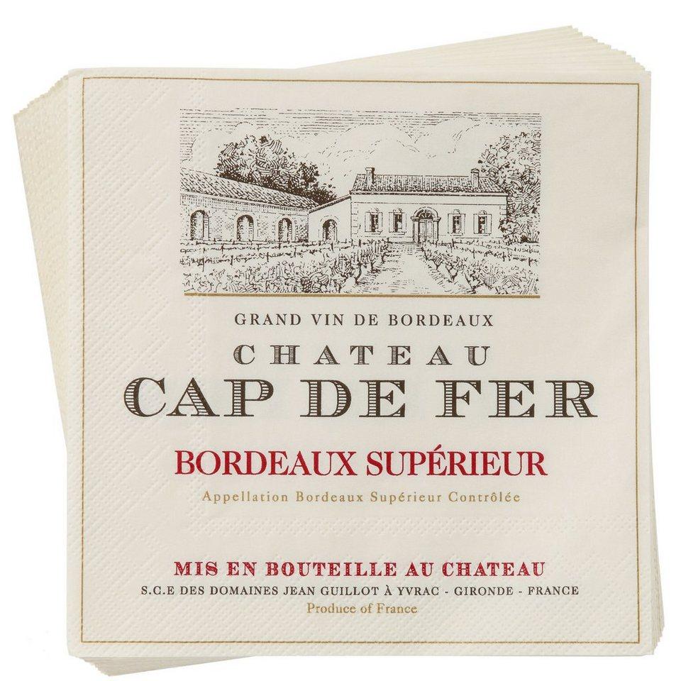 BUTLERS APRÈS »Papierserviette Cap de Fer« in Rot