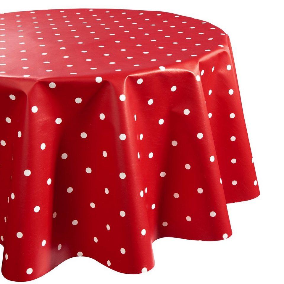 BUTLERS WATERPROOF »Wachstischdecke Punkte« in rot