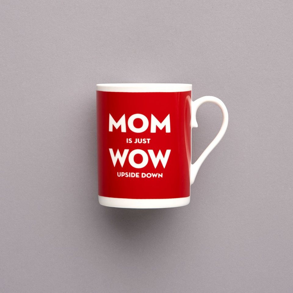 BUTLERS MOM IS WOW »Tasse« in rot