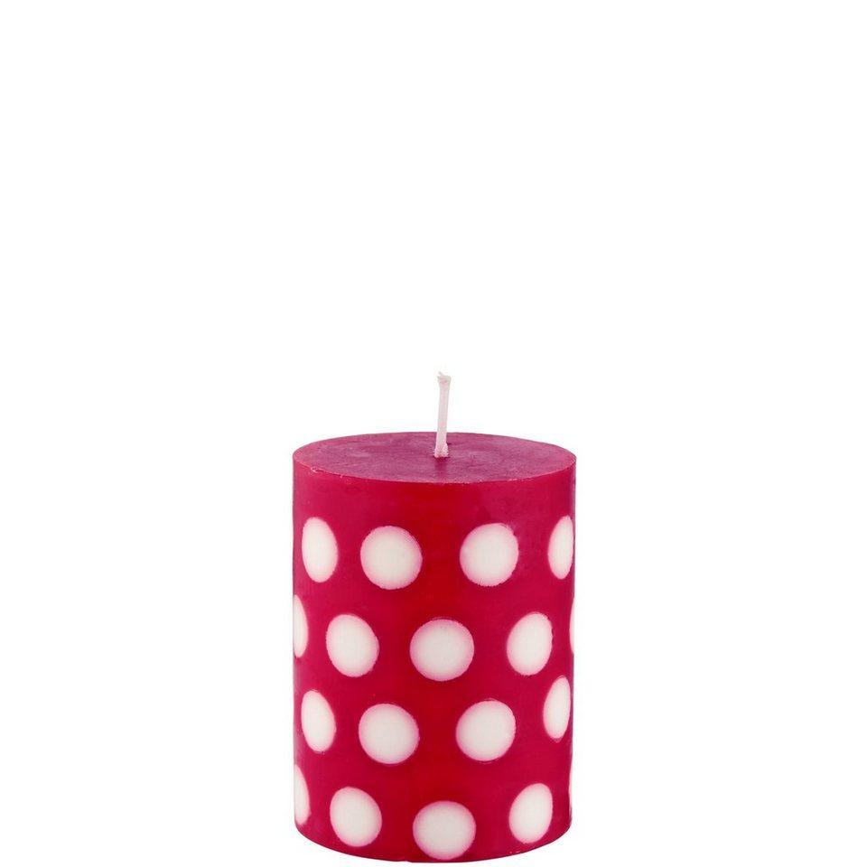 BUTLERS CANDY »Kerze Punkte« in rot-weiss