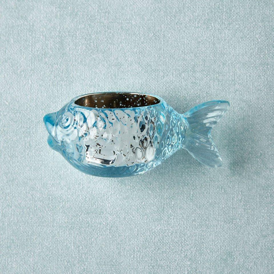 BUTLERS PEARLY BEACH »Teelichthalter Fisch« in tuerkis