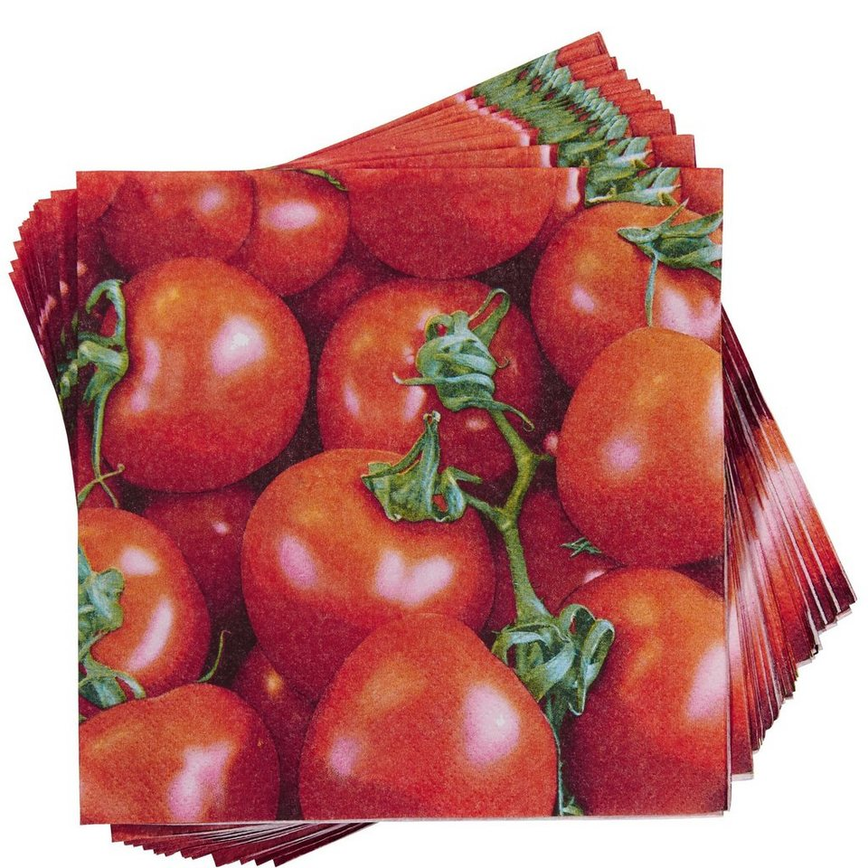 BUTLERS APRÈS »Serviette Tomatenernte« in Rot