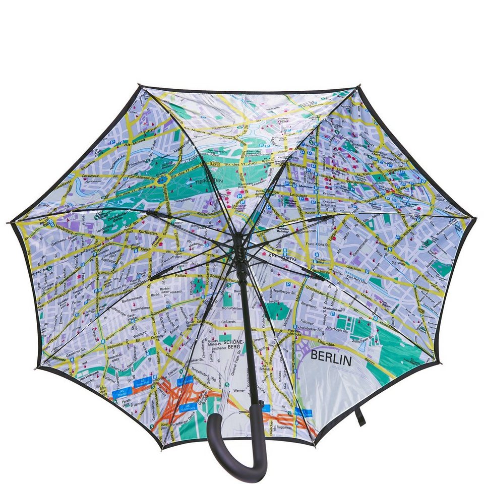 BUTLERS BERLIN »Regenschirm Berlin« in schwarz-bunt