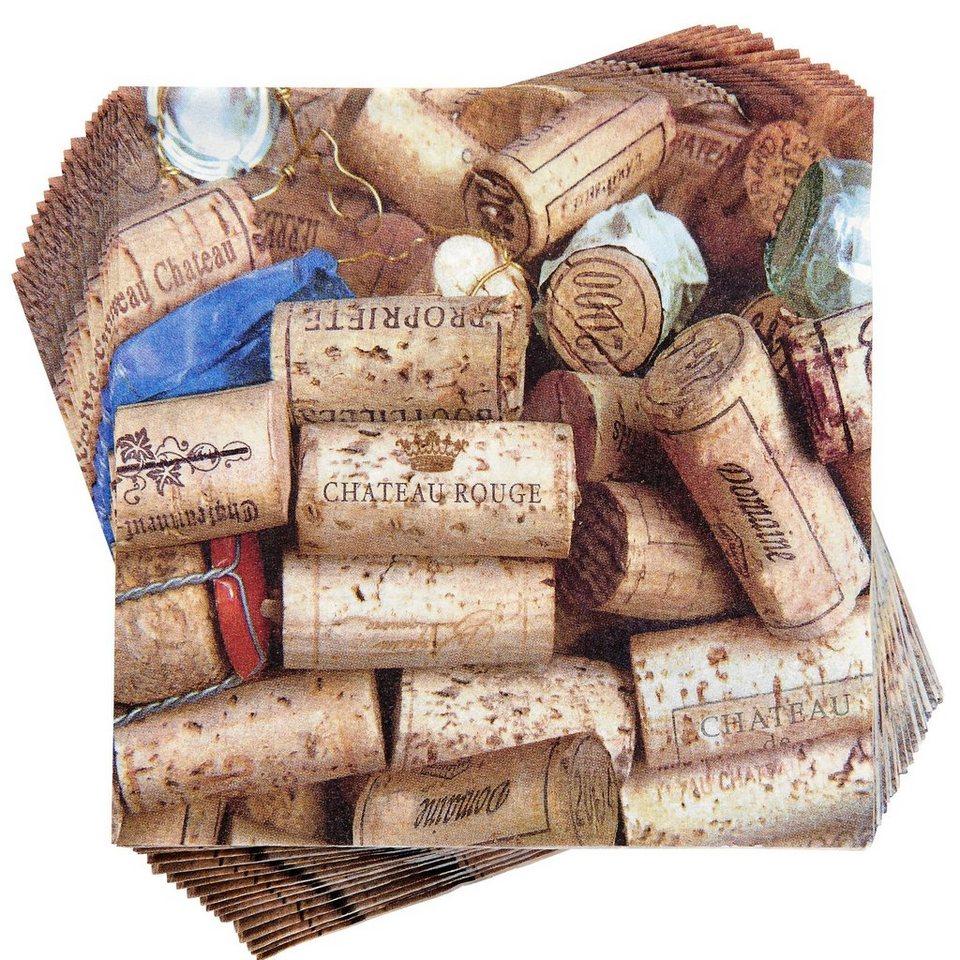 BUTLERS APRÈS »Papierserviette Korken« in braun