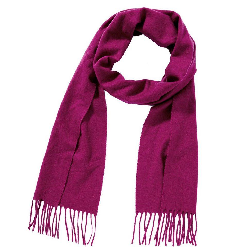 BUTLERS BOUTIQUE »Schal mit Fransen« in pink