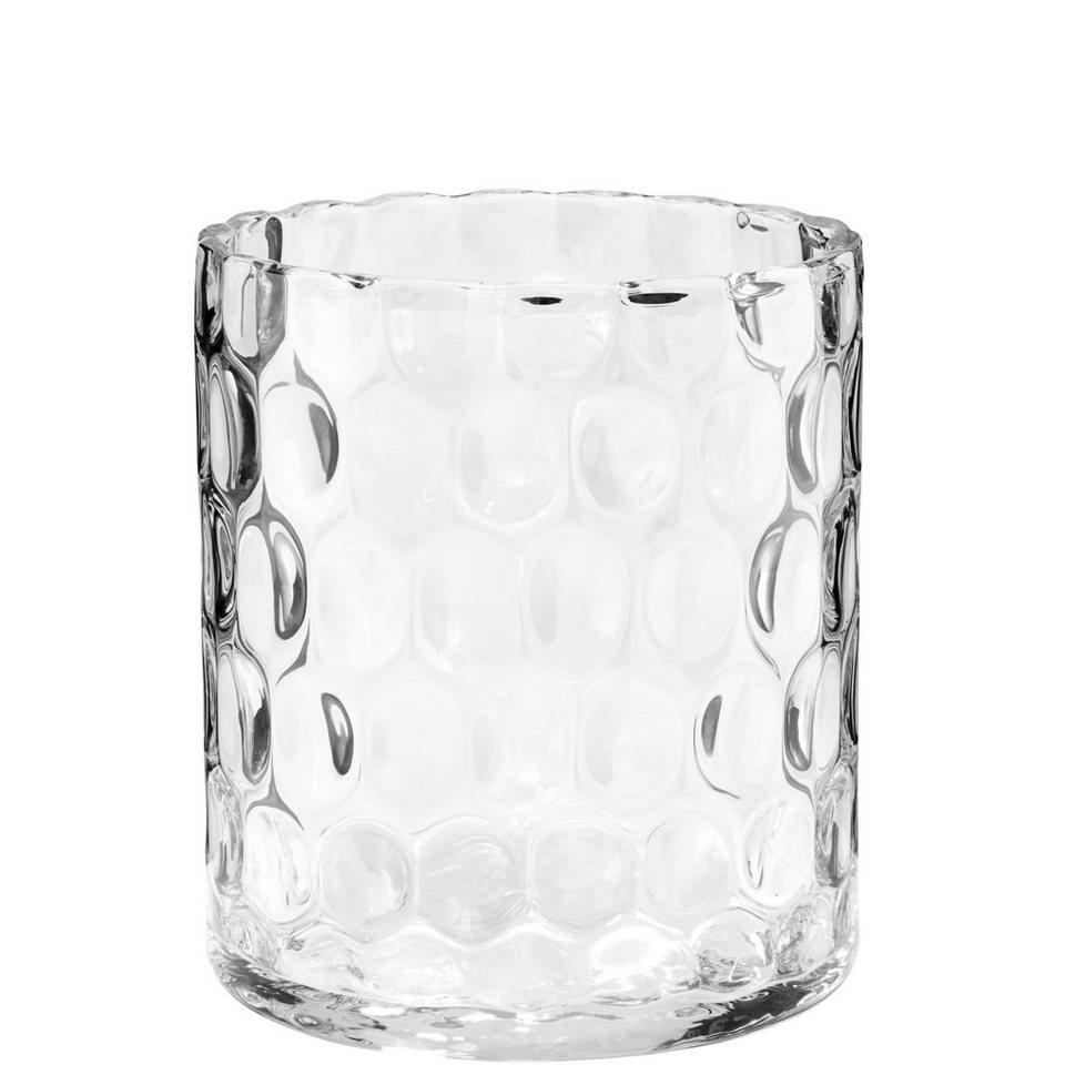 BUTLERS AGATA »Zylinder Vase mit Struktur« in transparent
