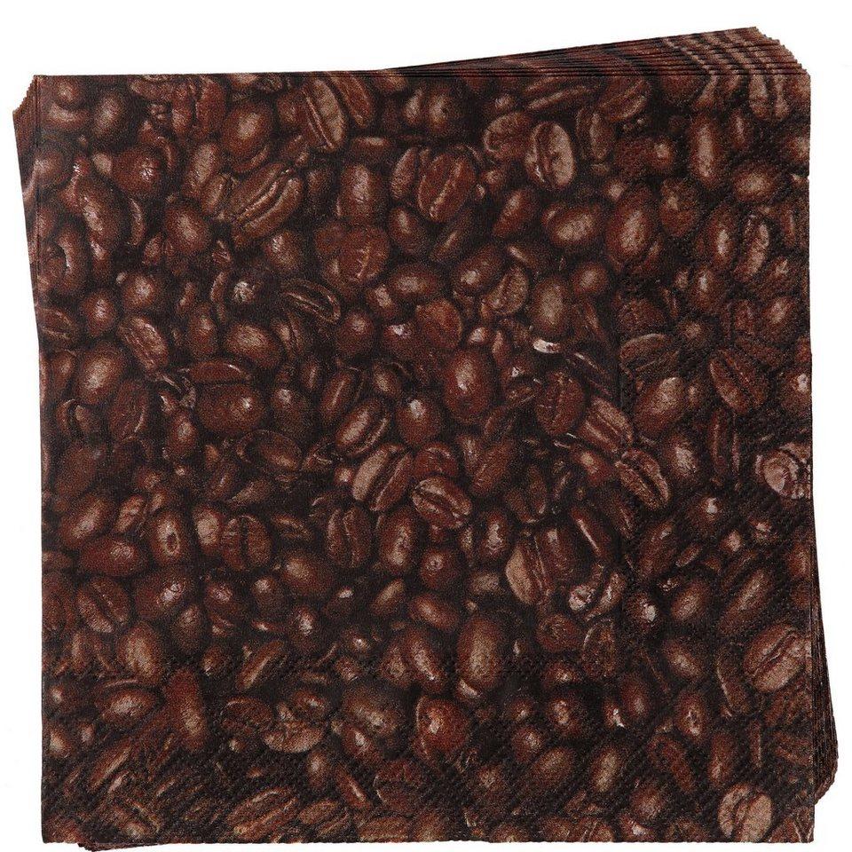 BUTLERS APRÈS »Papierserviette Kaffebohnen« in braun