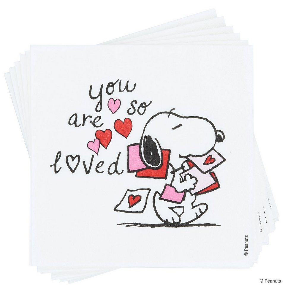 BUTLERS PEANUTS »Papierserviette Snoopy You're so« in bunt
