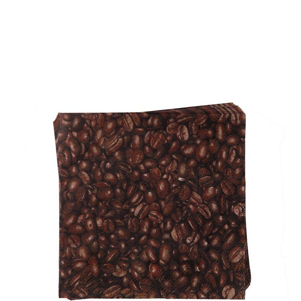 BUTLERS APRÈS »Cocktailserviette Kaffeebohnen« in braun