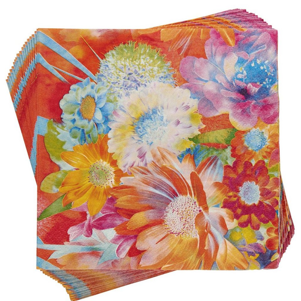 BUTLERS APRÈS »Papierserviette Blumen« in bunt
