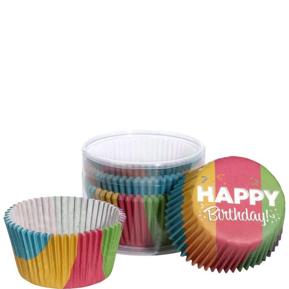 BUTLERS CUPCAKE »Papierförmchen Happy Birthday« in bunt
