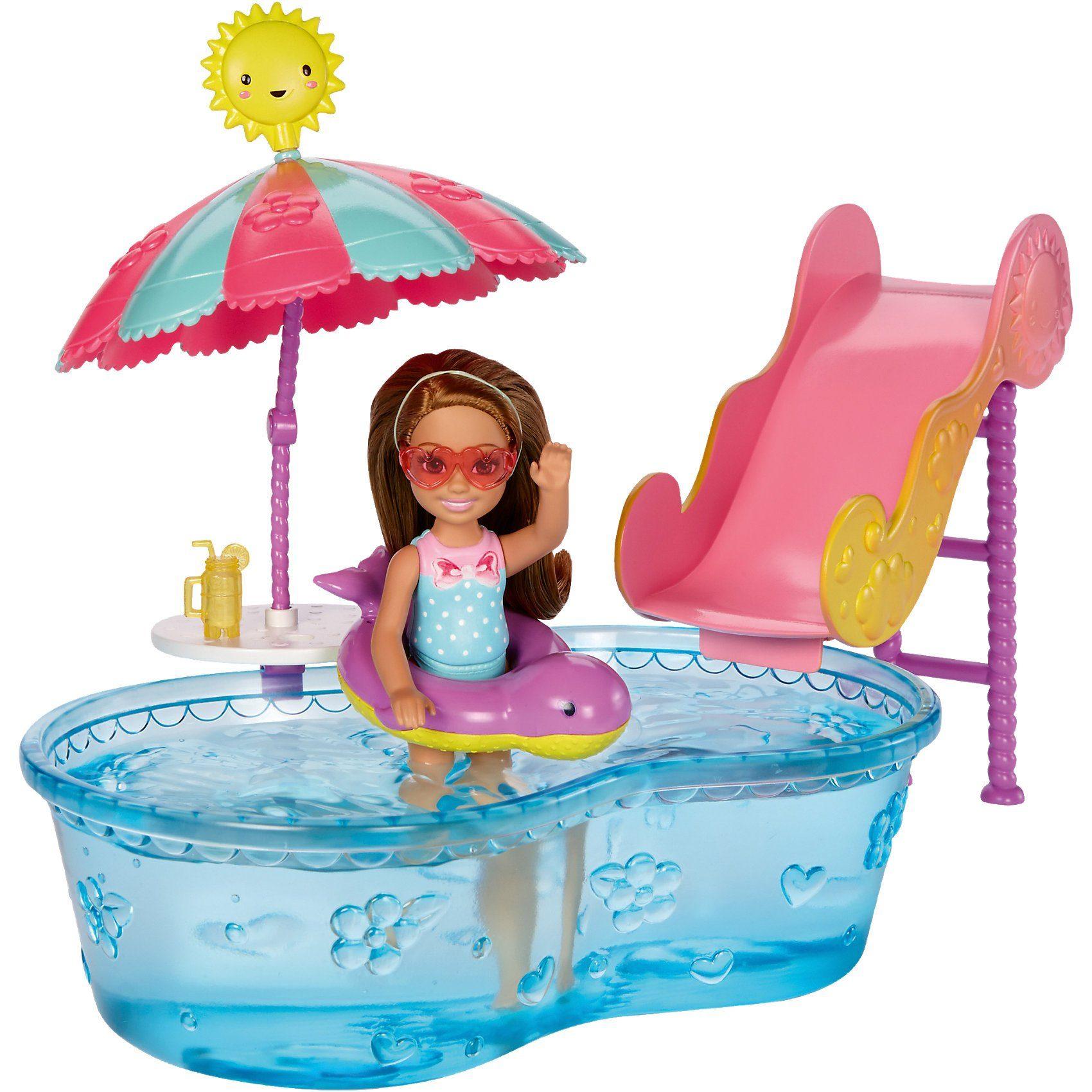 Mattel Chelsea Pool & Wasserrutsche Set
