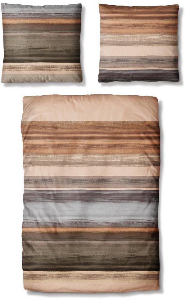 bettw sche auro hometextile raiden mit verwischten. Black Bedroom Furniture Sets. Home Design Ideas