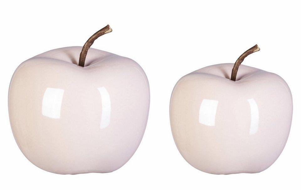 Keramik deko apfel 2er set online kaufen otto for Apfel dekoration