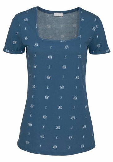 Cheer T-Shirt, mit modischem Karree-Ausschnitt