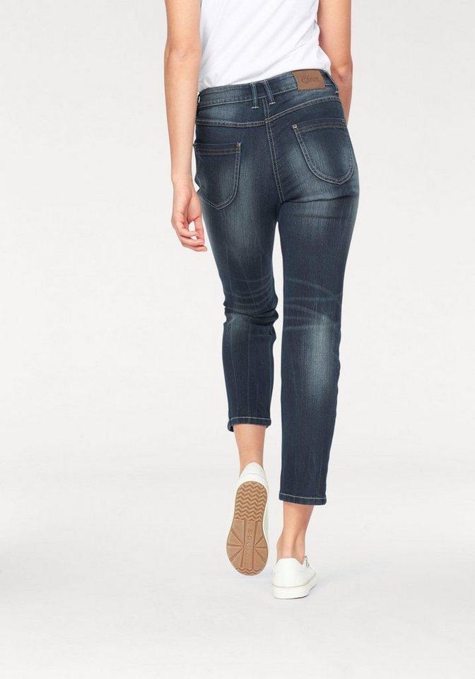 Cheer Slim-fit-Jeans mit Ziernähten in blue-used